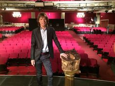 """Via @MickJagger on Twitter, July 21/14 -- """"At the Harlem @ApolloTheater. Looking forward to tonight's premiere! #GetOnUp"""""""