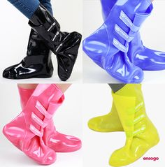 Bearcat Foldable Shoe-Cover Rain Boots, Available in 4 Colors