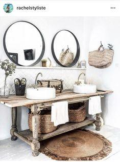 Home Interior Contemporary .Home Interior Contemporary Boho Bathroom, Diy Bathroom Decor, Bathroom Interior, Kitchen Decor, Bathroom Small, Kitchen Interior, Bathroom Inspiration, Interior Inspiration, Casa Milano