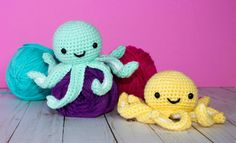 Free Crochet Pattern for Mini Octopus - The Friendly Red Fox