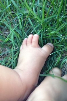 Green grass soft sweet feet