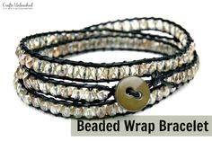 DIY Beaded Wrap Bracelet via www.craftsunleashed.com