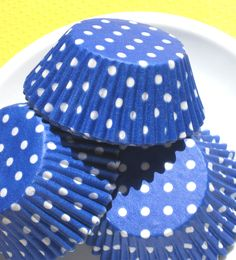 Blue Polka Dot Cupcake, Baking Cups (50). $3.50, via Etsy.