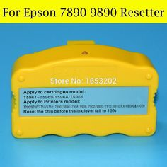 1 Piece Chip Resetter For Epson 7890 9890 7700 9700 Printer With Original Ink Cartridge #Affiliate