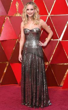 Oscars 2018 Best Dressed on the Red Carpet - Jennifer Lawrence in Dior
