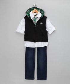 Take a look at this Black Prep Jeans Set - Toddler & Boys  by Stock the Closet: Kids' Apparel on #zulily today!