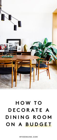 Tips and tricks for decorating a dining room