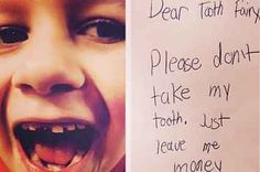 13 Hilariously Adorable Tooth Fairy Notes From Kids