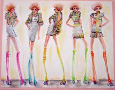 illustration boards | Cathryn Hunt: Machine Knit Illustration Board