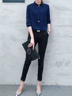 60 Mordern Classy and Casual work outfit - Office Outfits Classy Work Outfits, Summer Work Outfits, Work Casual, Stylish Outfits, Casual Summer, Summer Shoes, Fall Outfits, Trajes Business Casual, Business Casual Outfits