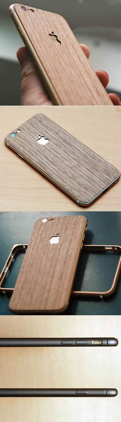 Handmade Wooden Protective Skin Phone Back Shell for iPhone 6/plus(Black Walnut)