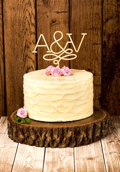 BETTER OFF WED RUSTIC CAKE TOPPERS
