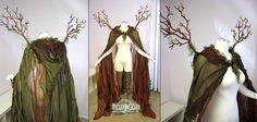 Forest-dweller's cloak. For a dryad, druid, forest fae, or other ghostly woodland creature.