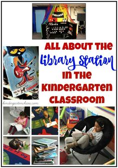 Hey, hey…it's Thursday! And it is day 6 of my 31 Days of Kindergarten series. I hope you are enjoying each and every blog post. Today is all about the Library Station in the Kindergarten Classroom. There are two stations that are fairly easily to set up i