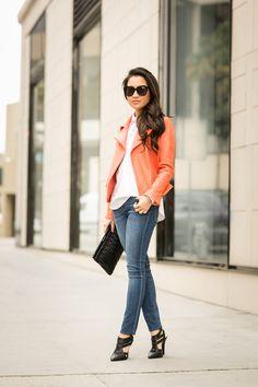 c7f9745ff00 Hidden Lace    Coral jacket   Cutout pumps. Wendy s LookbookPetite ...