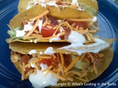 Crock Pot Ranch Chicken Club Tacos