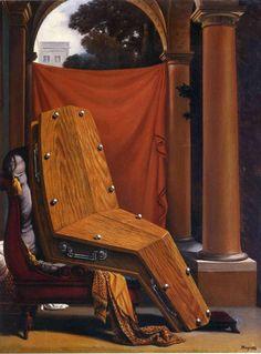 Рене Магритт -  Perspective: Madame R?camier de David  (1950) - Открыть в полный размер