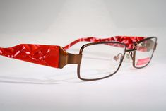 c6daceffe85 New BELLINGER Danish Eyeglass Frames Glasses with Colorful Red Pink Wide  Temples   eBay (RipVanW