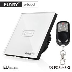 FUNRY ST2-EU Standard 1 Gang Remote Switch, Smart Control On-off for Smart Home, Smart Wall Switch,Smart Lamp Switch