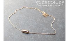 Ginette NY bracelet Mini-straw or rose #ginetteny #bracelet #straw #orrose #rosegold #gold #or #18carats #ginette_ny #bijoux #jewellery #jewel #jewelry #tube #fashion