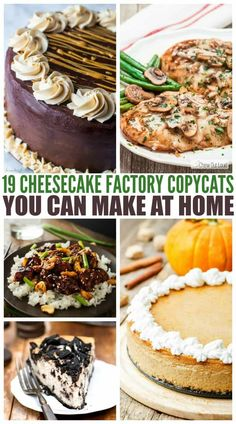 cheesecake factory recipes If you have never visited The Cheesecake Factory, you have no idea what you are missing. Yes they of course have amazing Cheesecake, but their food Easy Desserts, Delicious Desserts, Dessert Recipes, Yummy Food, Healthy Food, Cheesecake Factory Copycat, Lemon And Coconut Cake, Copykat Recipes, Baking Recipes