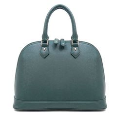 Structured satchel - this green/blue tone is great for spring!