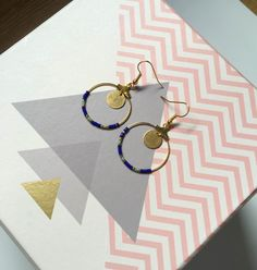 Boucles d'oreilles Créoles Bohème Chic agrémentées de Perles Miyuki