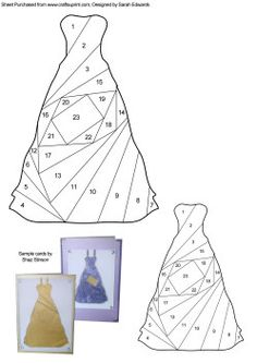 Iris Paper Folding Templates | Home : Iris Folding : Ladies : Dress Iris Folding Pattern