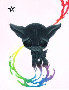 Cordero Rainbow  grandes ojos