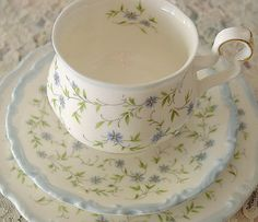 Royal Albert Caroline PatternTrio Vintage Tea SetTea by EraCaches, ETSY, ✿ pin by Colette's Cottage ✿