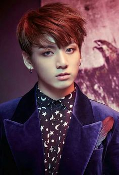 Jungkook #WINGS okay someone tell me this picture was messed with. His eyes are making me worry if it's not