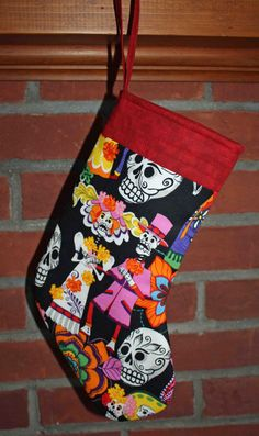 Skull Wedding Christmas Stocking