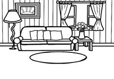 Vector Icons, Coloring Pages, Clip Art, English, Places, House, Furniture, Home Decor, Father's Day