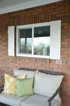 DIY Shutter Tutorial - The Idea Room. For the shed?