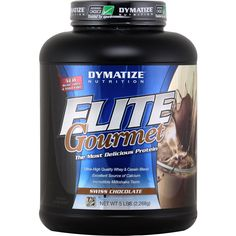 Dymatize Nutrition Elite Gourmet Protein Swiss Chocolate 5 lbs | Regular Price: $80.79, Sale Price: $53.99 | OvernightSupplements.com | #onSale #supplements #specials #DymatizeNutrition #ProteinPowder  | ELITE GourmetUltra High Quality Whey Casein BlendExcellent Source of CalciumIncredible Milkshake TasteThe Most Delicious Protein ELITE GOURMET PROTEIN is so delicious it tastes like a gourmet milkshake ELITE Gourmet is the perfect blend of Ion Exhcnage Whey Protein Concentrat