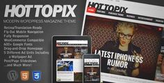 Download and review of Hot Topix - Modern WordPress Magazine Theme, one of the best Themeforest Magazine & Blogs themes