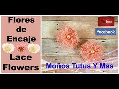 FLOR POMPON DE ENCAJE Paso a Paso VINTAGE LACE FLOWER Tutorial DIY How To PAP Video 195 - YouTube