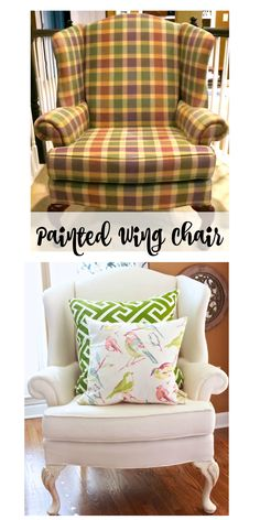 Painted Wing Chair -
