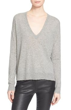 Zadig & Voltaire V-Neck Cashmere Sweater available at #Nordstrom