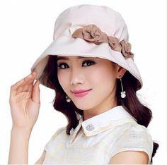 Elegance flower bucket hat for women outdoor UV sun hats
