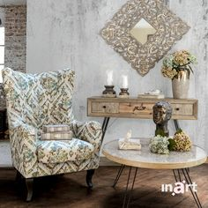 It is not the chair, not the coffee table, nor the mirror on the wall that make my home so precious. It's all the thoughts, the laughs and… Retro Boutique, Shabby Chic Style, Wingback Chair, Chalk Paint, Accent Chairs, Throw Pillows, Mirror, Wall, Thoughts