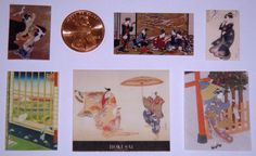 Dollhouse Miniatures: 6 Japanese Prints for Hanging
