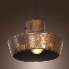 40W Retro Artistic Pendant Light with Rusty Metal Hat-shaped Shade 592847 2017 – £29.73