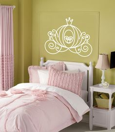 Vinyl Wall Decal CINDERELLA CARRIAGE Princess by urbanexpressions, $28.00