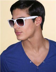 White Sunglasses on men.    Gonna need that man-card back bro.