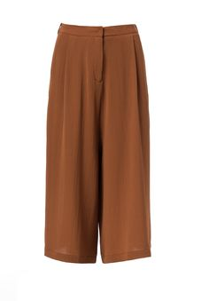 Sleek and classic brown toned culottes perfect for fall from CASTRO's #flavorsoffall fashion show