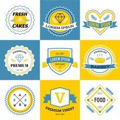 Vector logo set. Vintage Design. $5.00