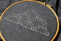 Sashiko Clouds Embroidery Design