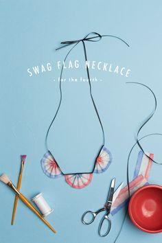 DIY Swag Flag necklace