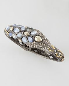 Y1N6C Alexis Bittar Pave Crystal Snake Bangle